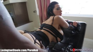 LexingtonSteele Amy Anderssen BBC Spit-Roast Cum cumshot
