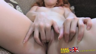 Preview 5 of FakeAgentUK Petite Spanish pornstar gets huge facial in on casting couch