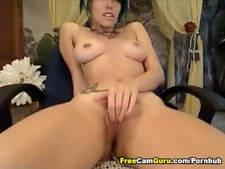 Tattoo Babe Playing her Cunt
