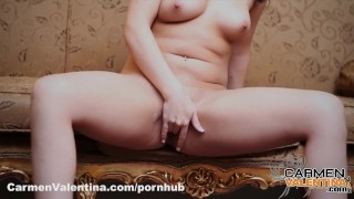 Carmen Valentina Pink Pussy and Pink Corset Cock young