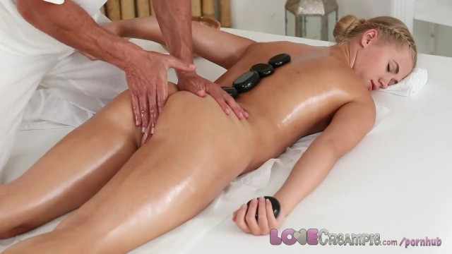 Man strips for george clooney - Love creampie college girl orgasms as masseur cums inside her young pussy