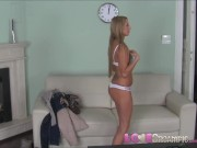 Love Creampie Blonde barbie takes big cock in Casting