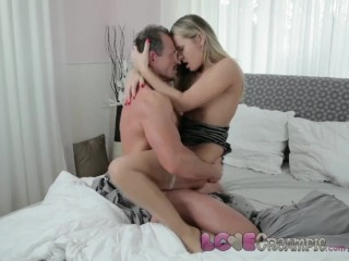 Love Creampie Zuzana in stockings takes cock and cum inside her hairy pussy