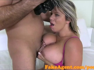 FakeAgent Busty Blonde amateur fucks Hard in Casting