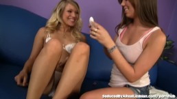 Bad Girl Teen Seduces Her Cute Blonde Friend