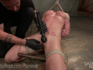 Blonde Babe in Brutal Bondage