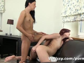 Teen amateurs indulge in anal pissing fun