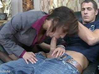 Sexy coed capri cavanni take cock