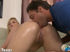 Blonde Alexis Texas gets bubble ass jizzed