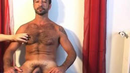 My handsome arab sport trainer serviced his huge cock by me !