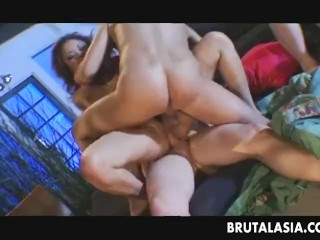 The Swinger Experience Presents Stunning Asian gal in a wild foursome