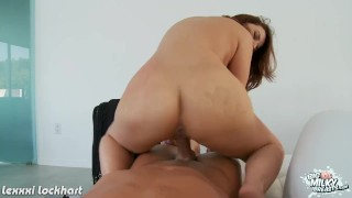 Brunette honey with big tits Lexxxi Lockhart ride cock 3way mom