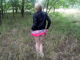 Peed in the woods =)