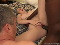 Cleaning BBC Creampie From Wifes Carpet