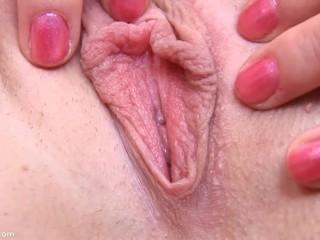 Rachel Bruno Atm Blonde Amateur Pussy Contracting Of Pleasure, Babe Masturbation