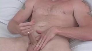 Naughty Straight Guy Hef Masturbating Solo jerking