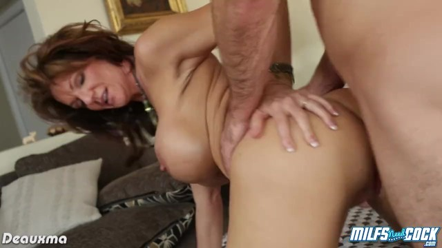 Busty milf Deauxma gets arse fucked