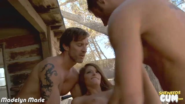Madelyn marie pornstar - Hottie madelyn marie gets facialized in threesome
