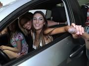 Mofos - Great teen orgy in a car
