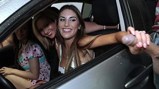Mofos Great teen orgy in a car