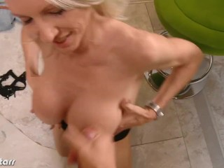 Busty Emma Starr take cock in POV
