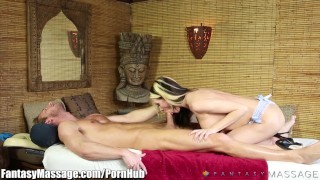 FantasyMassage Awesome BJ at the Rub and Tug Censored japanese