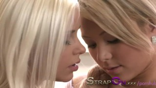 StrapOn Two lesbian angels fuck with StrapOn  strap on natural strapon kissing dildo blonde sensual orgasms czech babes romantic pussy licking natural tits adult toys girl on girl oral sex sex toy female friendly