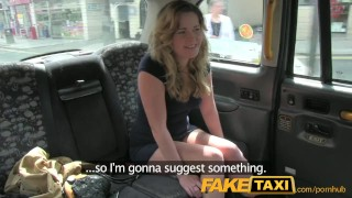 FakeTaxi Horny young teen takes on old cock Russian pussy