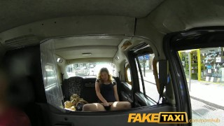 FakeTaxi Horny young teen takes on old cock Big eating