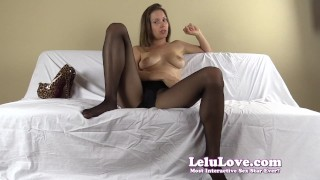 Lelu Love-FemDom Ruined Slave Humiliation  homemade hd humiliation chastity foot femdom amateur solo instruction fetish domination pantyhose brunette feet ruined