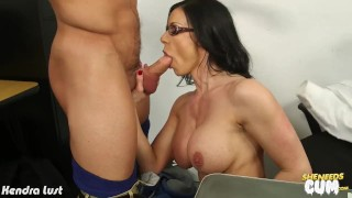 Sexy Kendra Lust gets facialized Bbc cocksucking