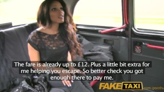 FakeTaxi Runaway ebony sucks cock to buy drivers silence