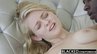 BLACKED Blonde Girlfriend Alli Rae Loves Black Cock Orgasm bath