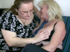 Big fat woman masturbates and licking with old granny teacher