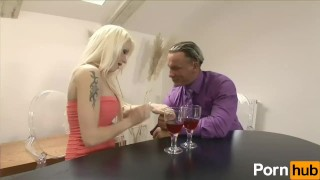 Blonde Big-Tit Slut Sodomized