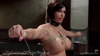 Slave MILF With Huge Tits Femdom orgasm