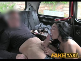 Amateur Michel FakeTaxi Big boobed babe gets her tits gropped by randy taxi driver
