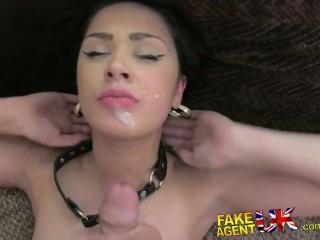 FakeAgentUK Hot slim Brit girl fetish bound and fucked for agents pleasure