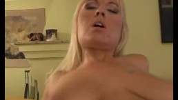 Busty young Wendy ride anally a fat cock