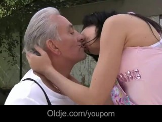 Close Up Anal Sex Video Old Man And Young Girls Enjoy A Nice Fucking