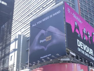 All you need is hand - pornhub in times square new york