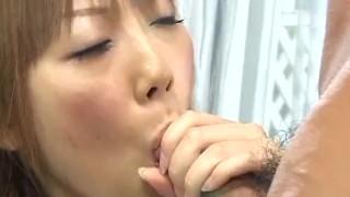 Japanese brunette enjoys a hardcore threesome Perky purexxxfilms