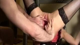 fisting Rachels gaping pussy
