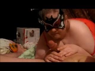 Saffic errotica batwoman blowing dick and sucking nuts with bit fat tits big boobs ba