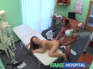 Fakehospital doctor and nurse enjoy patients wet pussy - 3 part 2