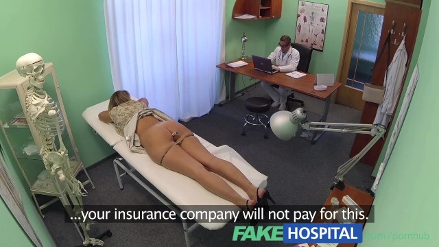 Real fake vagina Fakehospital doctor accepts sexy russians pussy as payment