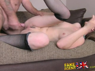 FakeAgentUK Hot UK amateur gets fingered rimmed and fucked on casting couch