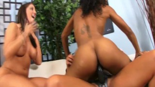3 Sluts Interracial Strapon Fucking! 3some raven pussy-eating strapon-threesome black curvy big-ass strapon interracial-lesbians lesbian big-tits small-tits fake-tits brunette orgasm skinny girl-on-girl glass-dildo