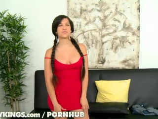 Reality Kings - Annika shows of her hairy pussy