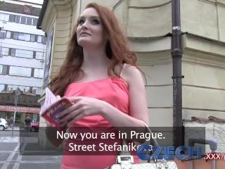 Stefanie Knight Pussy Czech Hot Redhead Fucks Guy Hard In Car Park For Cash